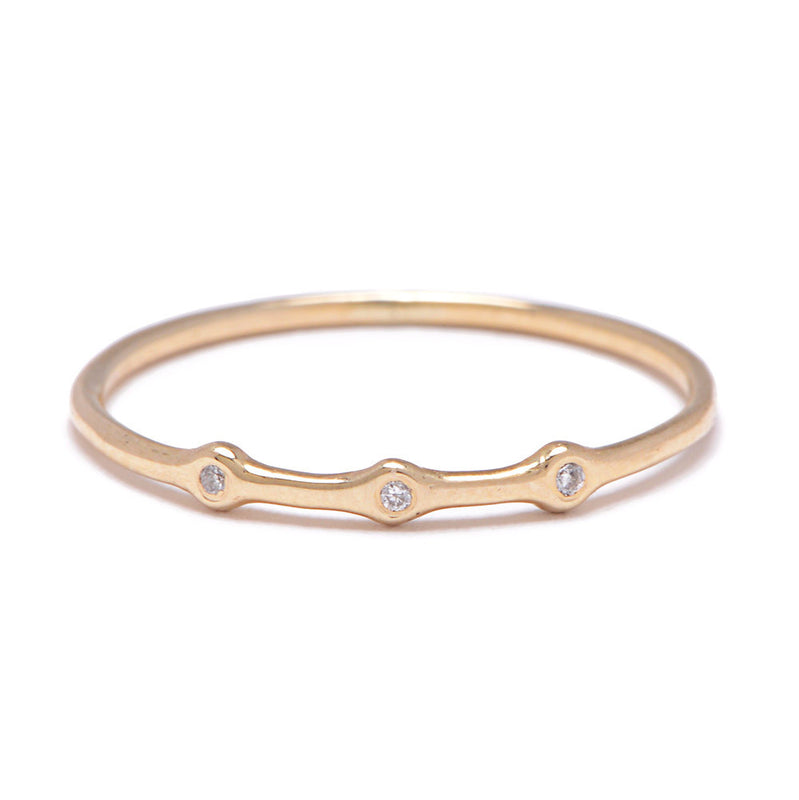 Trio Ring in Gold with Diamonds