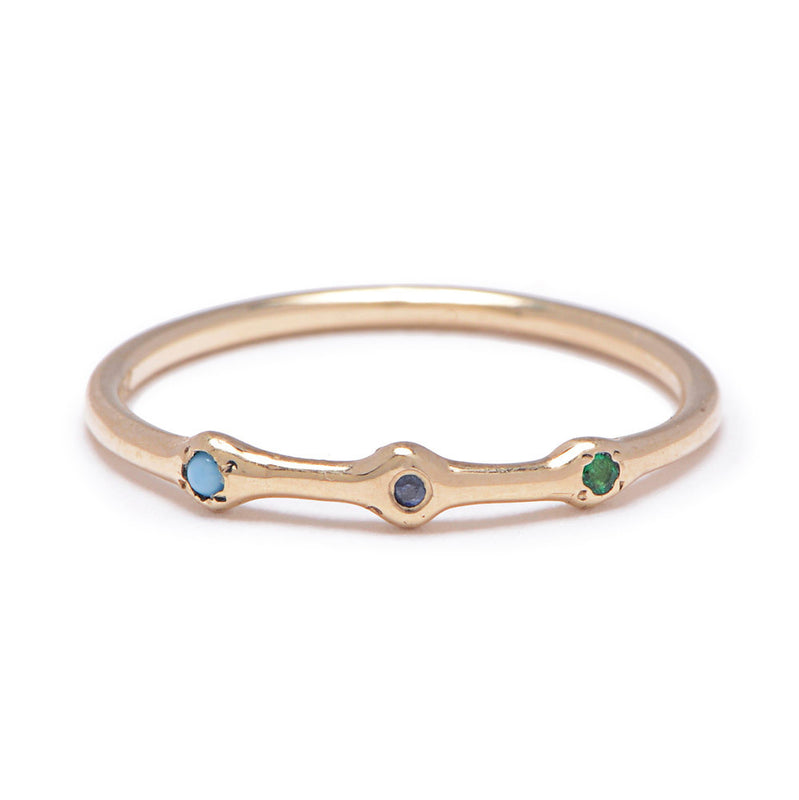 Trio Ring in Gold with Mixed Stones