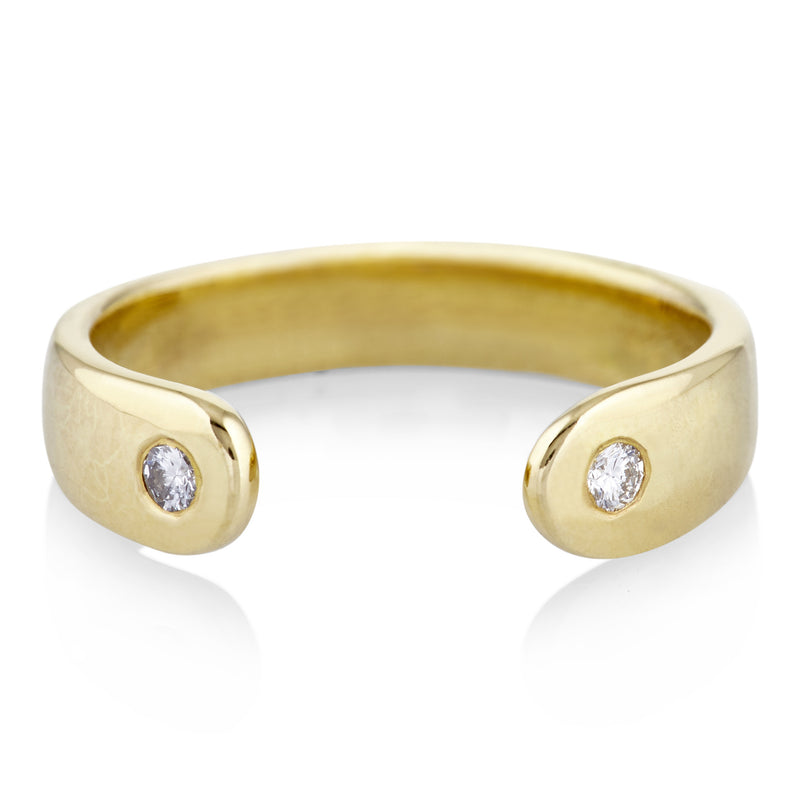 Open Ring in Gold and Diamond