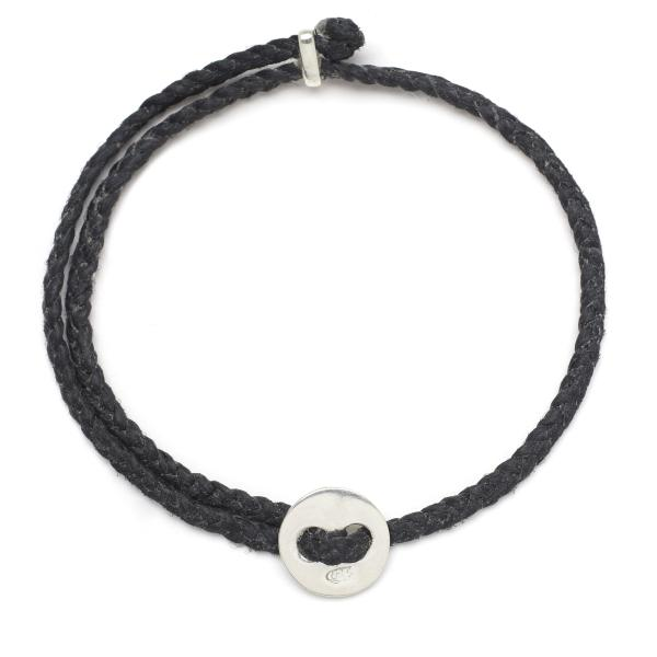 Signature 4mm Bracelet, Silver in Black