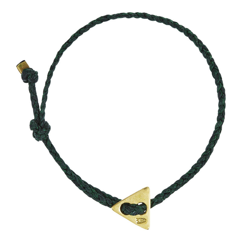 Signature 4mm Bracelet, Gold Triangle in Forest