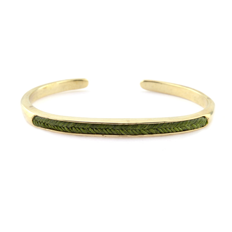 Cuff Wythe in Brass with Olive