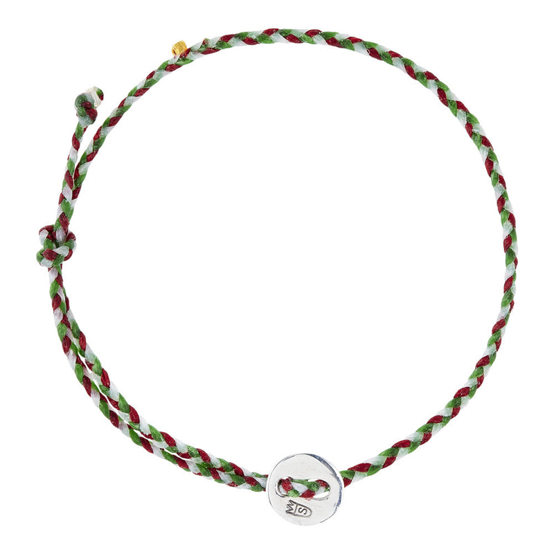 (2mm) Kelly Green, Red, & White Signature in Silver