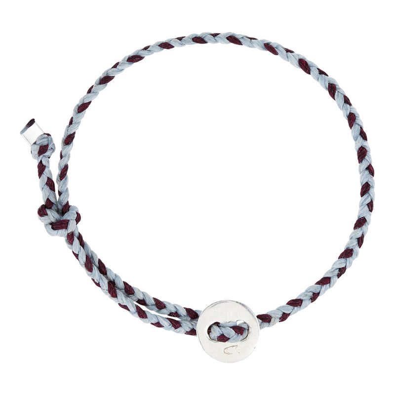 Signature 4mm Bracelet, Silver in Light Blue and Burgundy