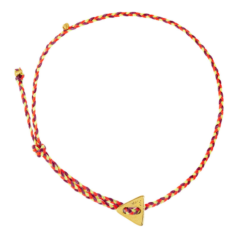 (2mm) Triangle Signature Berry, Neon Pink & Neon Yello in Brass