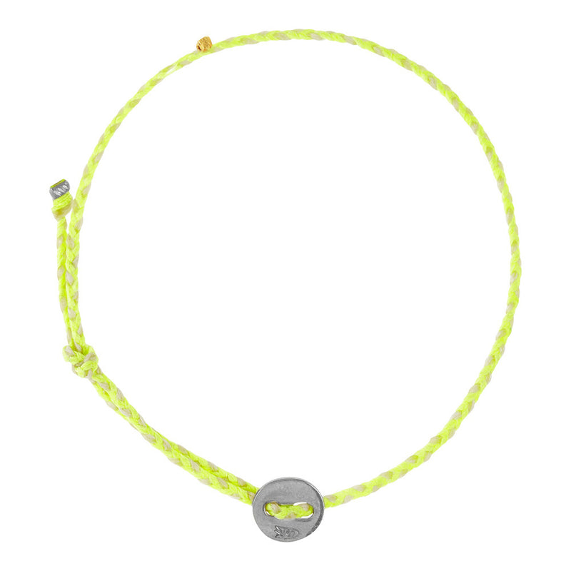 (2mm) Neon Yellow & White Signature in Silver