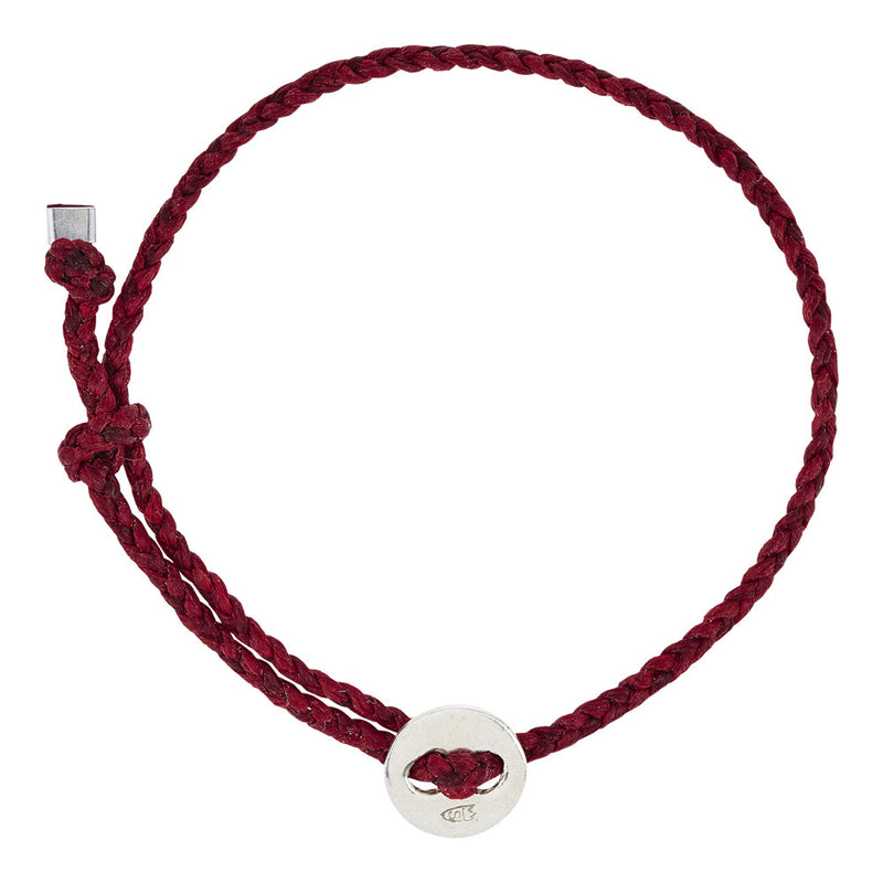 (4mm) Red Signature Bracelet in Silver