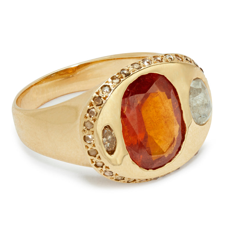 Ayanna Ring with Garnet
