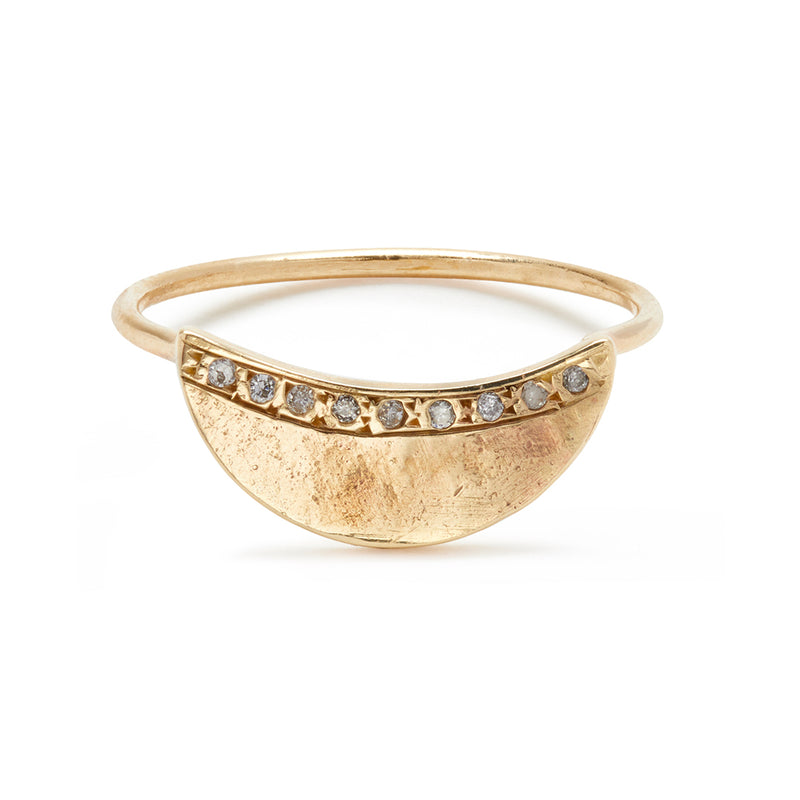 Pavé Half Moon Ring