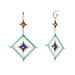 Double Gods Eye Earring in Light Blue