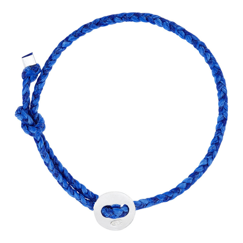 (4mm) Royal Blue Signature Bracelet in Silver