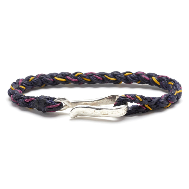 Rope Braid with Hook in Indigo, Berry, and Mimosa