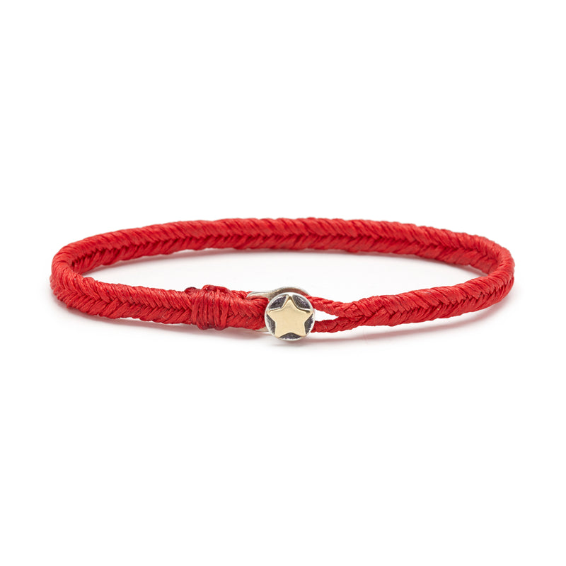 Classic Fishtail Star Button Bracelet in Scarlet