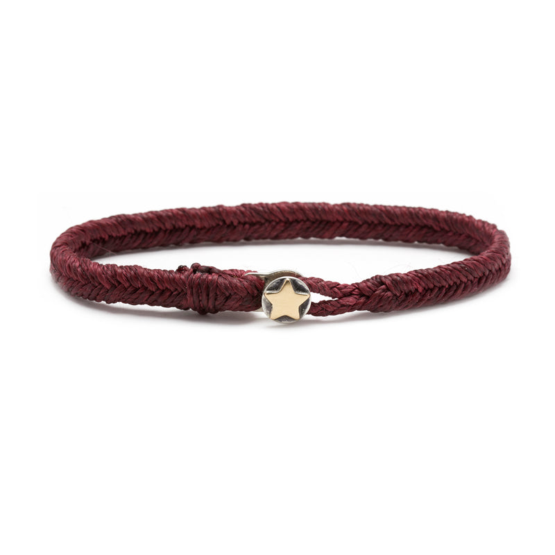 Classic Fishtail Star Button Bracelet in Plum