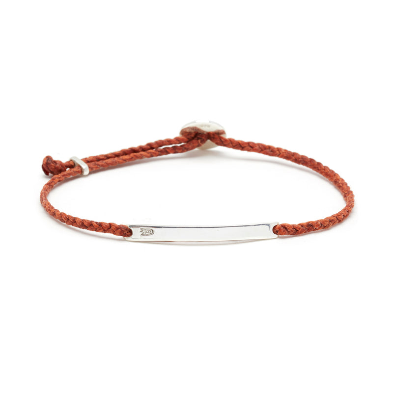 Signature ID Slider Bracelet in Rust