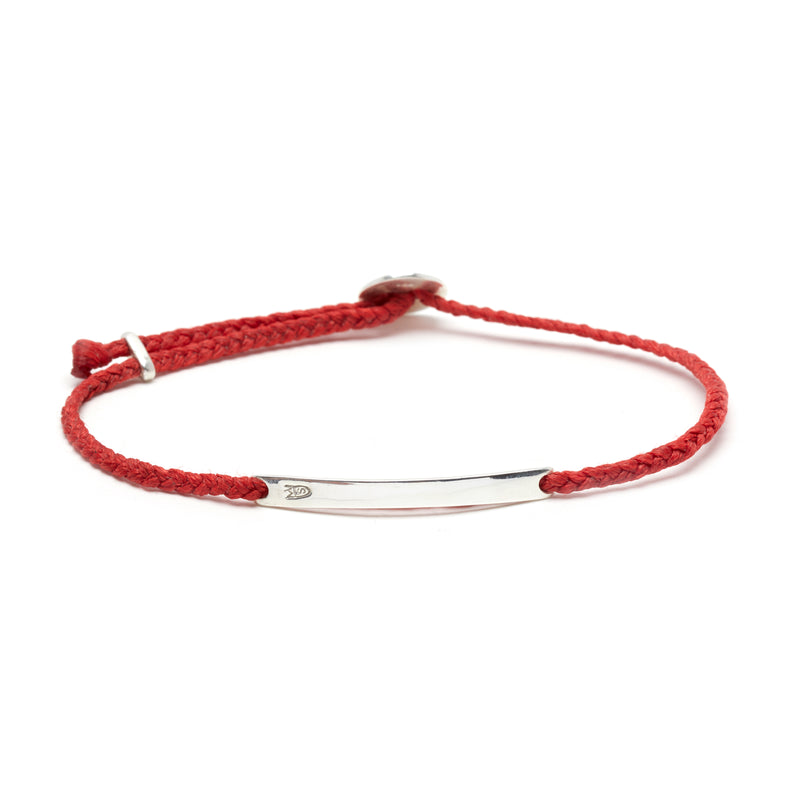 Signature ID Slider Bracelet in Scarlet