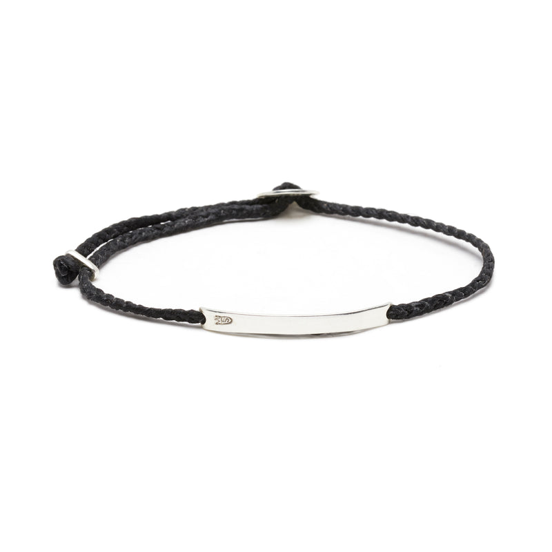 Signature ID Slider Bracelet in Black