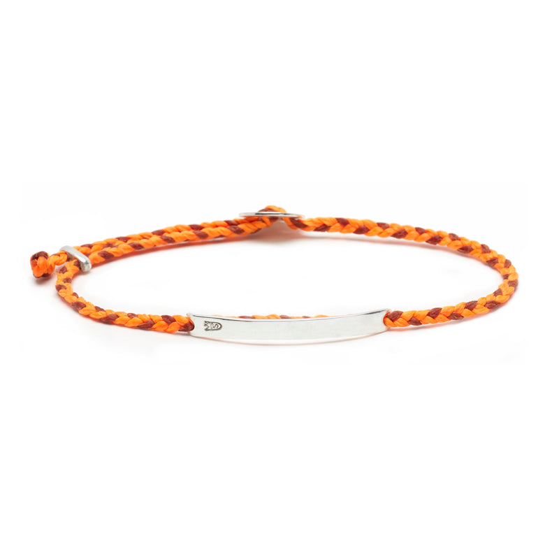 Signature ID Slider Bracelet in Neon Orange and Berry