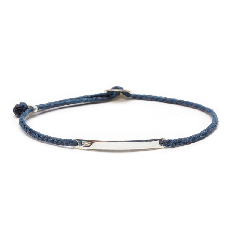Signature ID Slider Bracelet in Denim