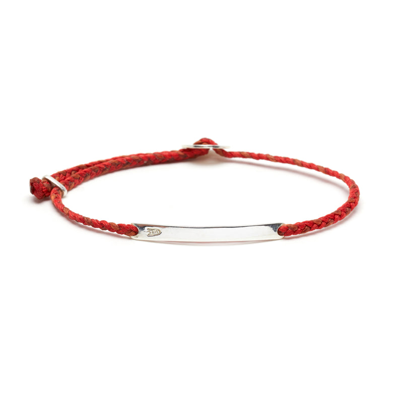 Signature ID Slider Bracelet in Scarlet and Rust