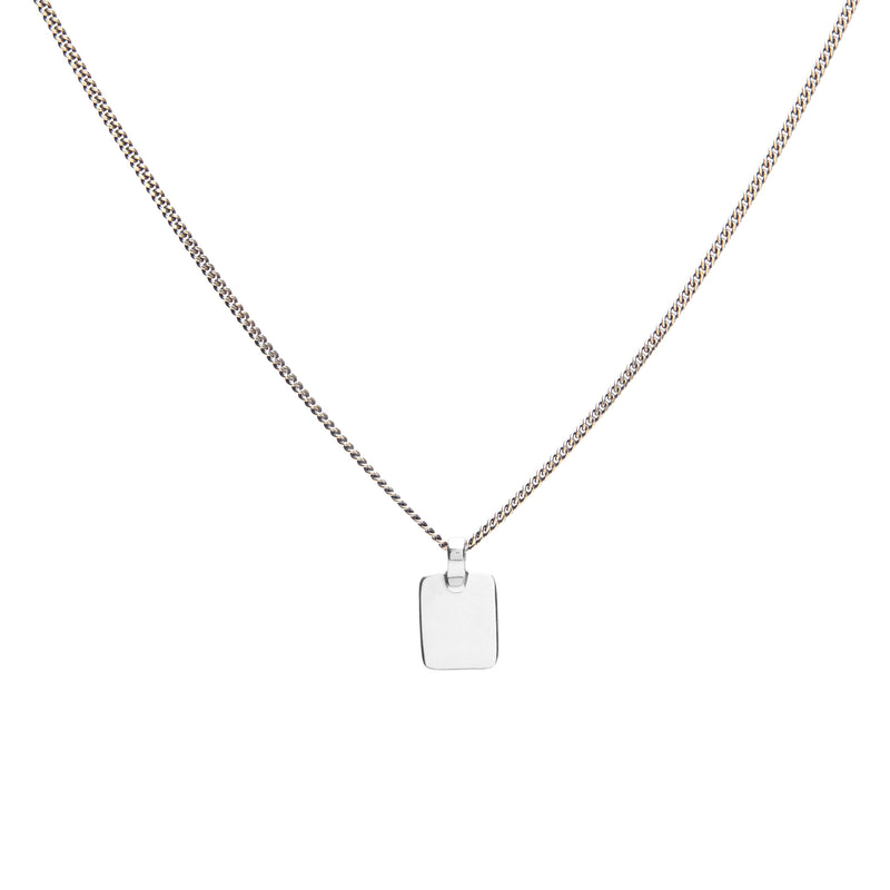 Tag Necklace in Silver