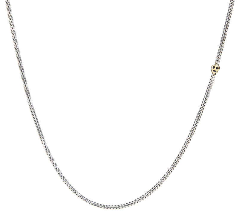 Continuous Chain Necklace in Silver and Gold