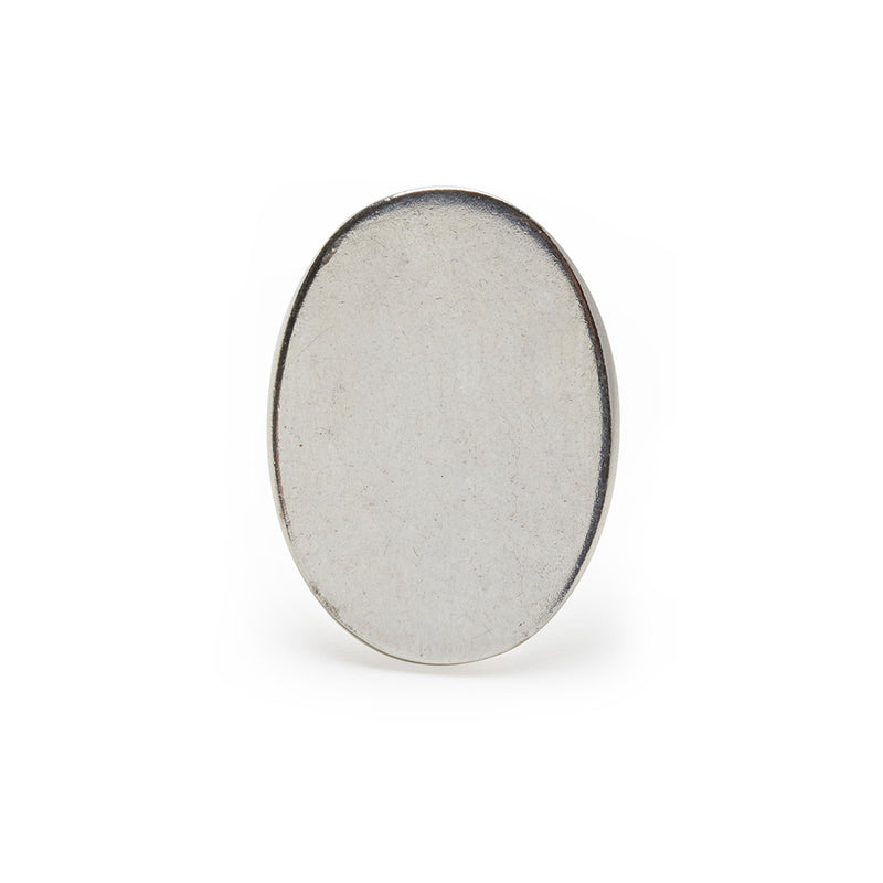 Large Oval Signet Ring in Silver