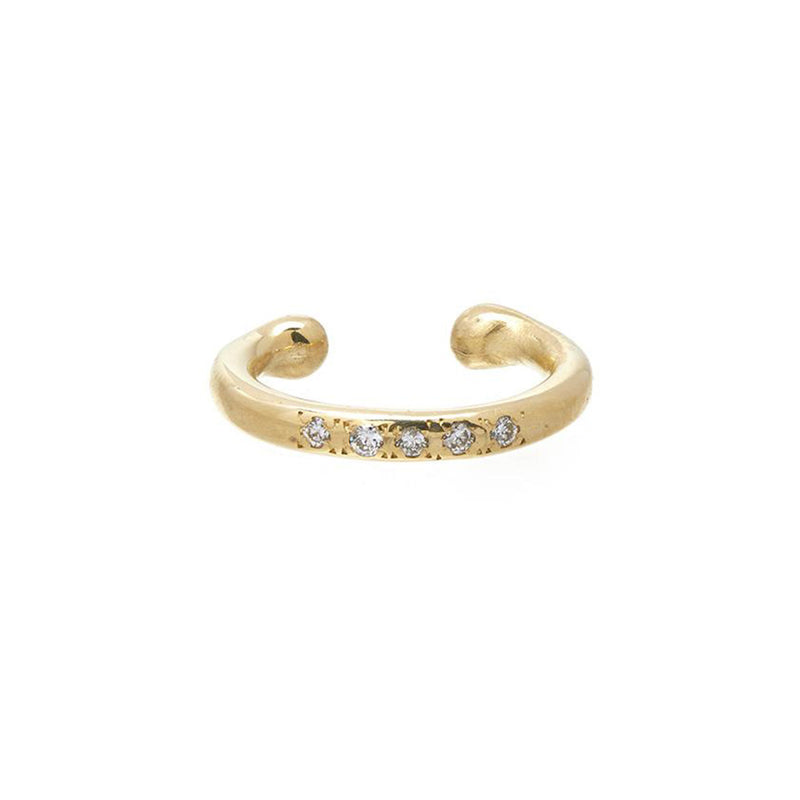 Classic Ear Cuff with Pavé Diamonds