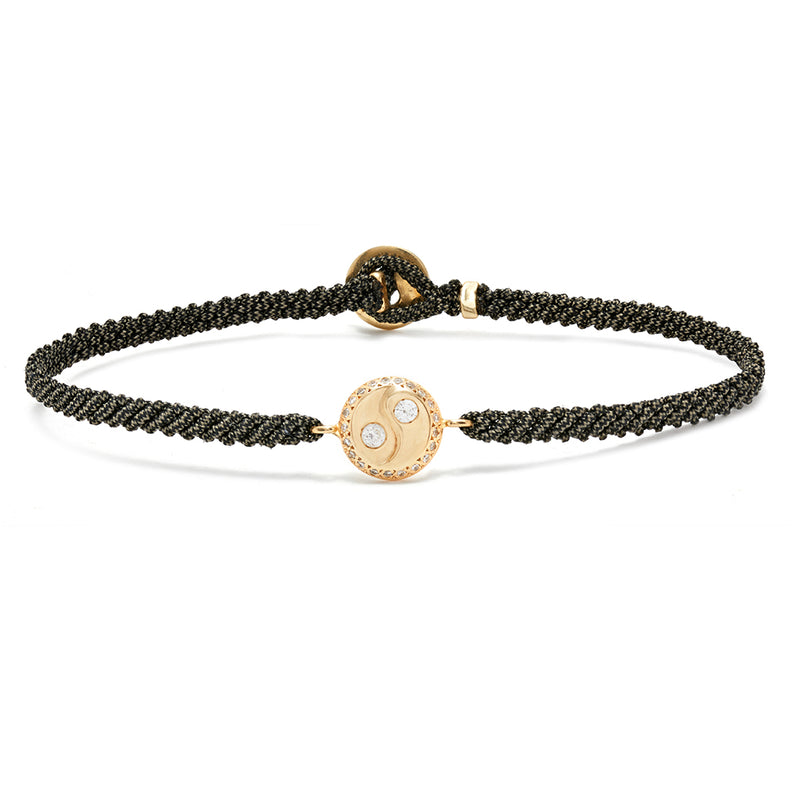 Yin-Yang Bracelet with Diamonds