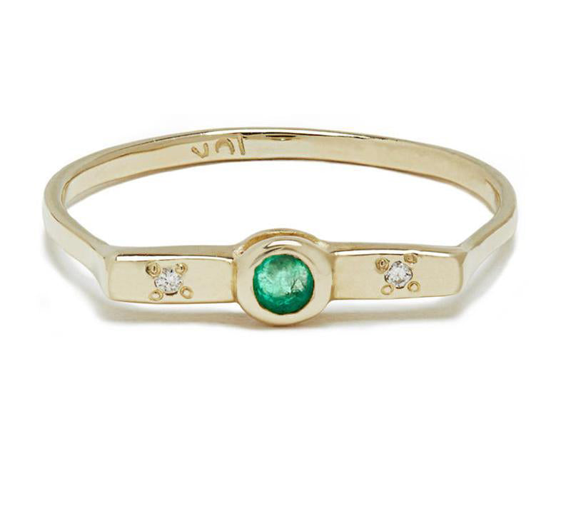 Wish Band with Emerald in Gold or Silver