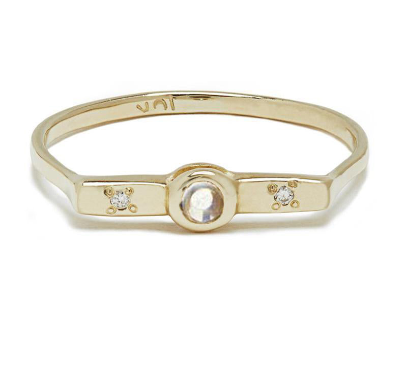 Wish Band with Moonstone in Gold or Silver