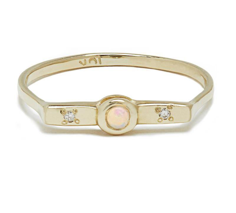 Wish Band with Opal in Gold or Silver