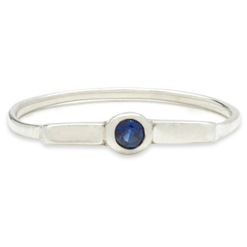 Wish Band in Silver with Sapphire