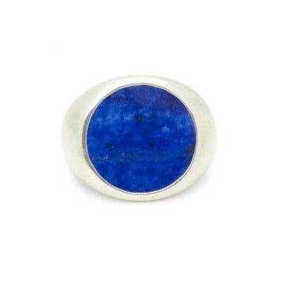 Classic Tablet Ring in Silver with Lapis