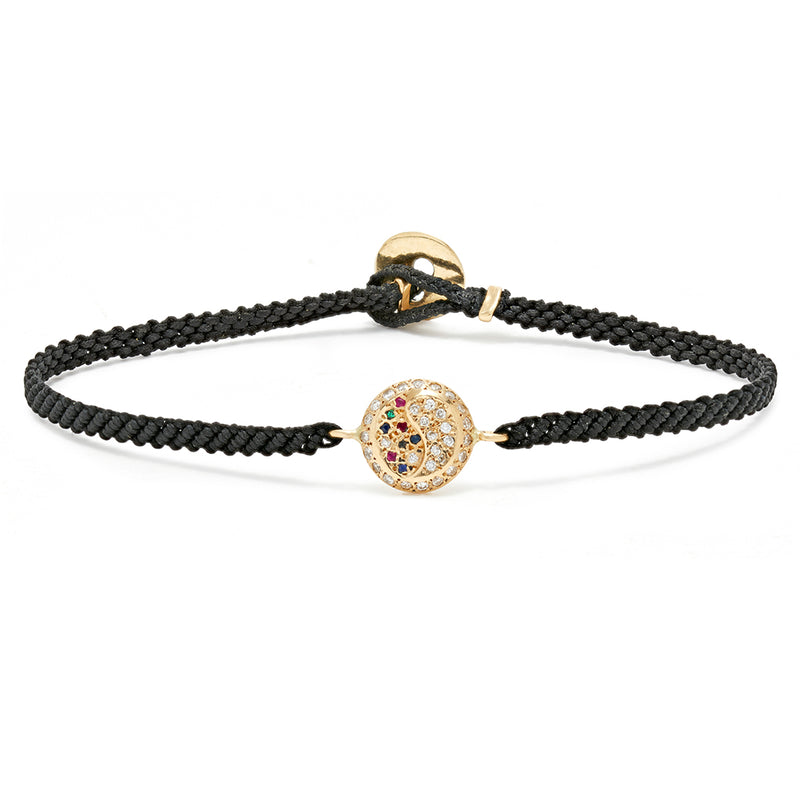 Yin-Yang Bracelet with Mixed Stones