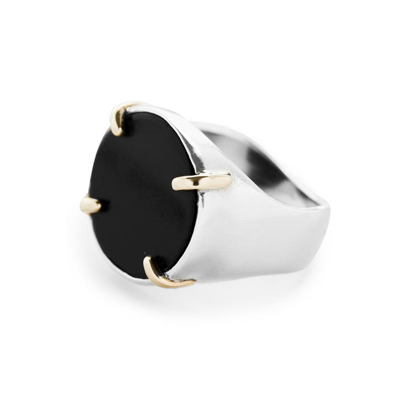 Tablet Black Ash Ring