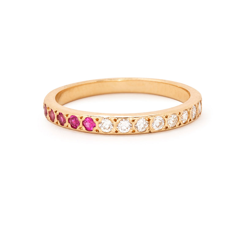 Half Eternity Band with Pink Sapphires