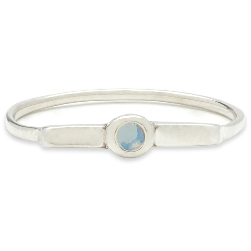 Wish Band in Silver with Opal