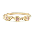 TRIO BEZEL BAND IN GOLD & PEACH SAPPHIRES
