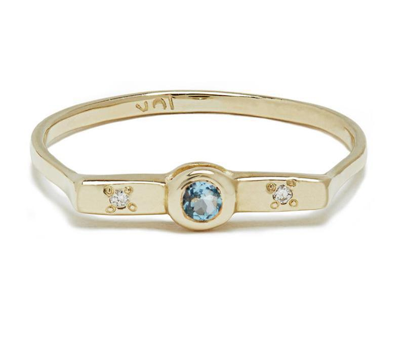 Wish Band with Aquamarine