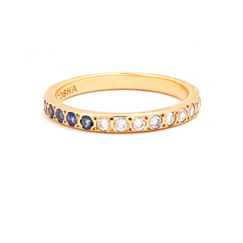Half Eternity Band with Blue Sapphires