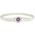 Wish Band in Silver with Amethyst