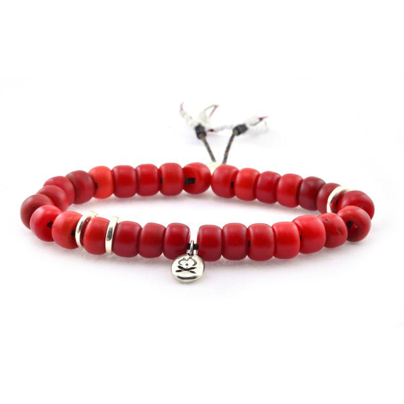 Mantra Bracelet in Red