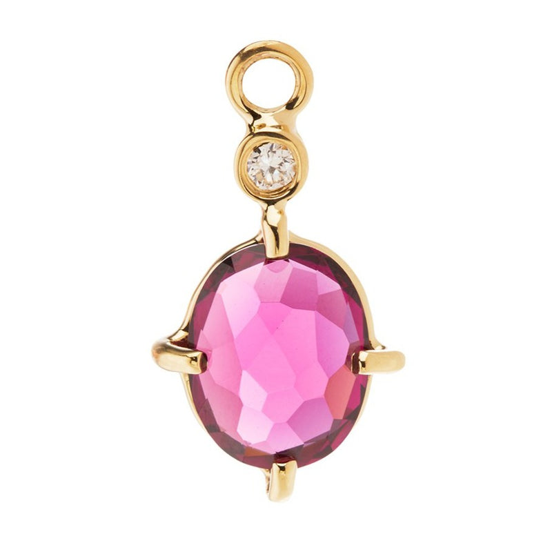 Alice Charm with Rhodolite