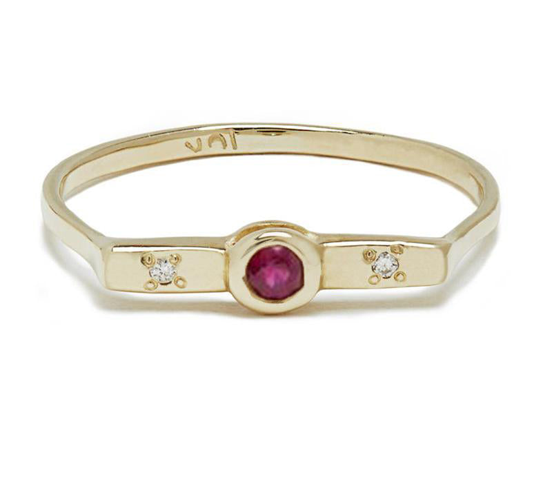 Wish Band with Ruby in Gold or Silver