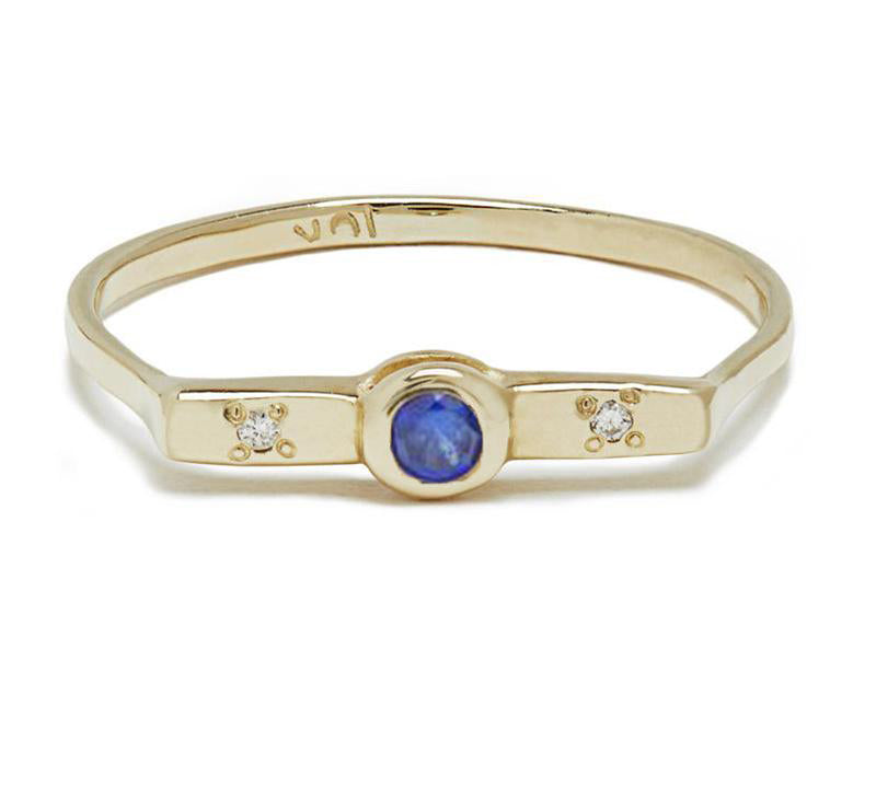 Wish Band with Sapphire in Gold or Silver