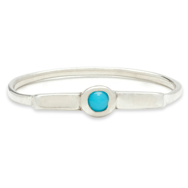 Wish Band in Silver with Turquoise