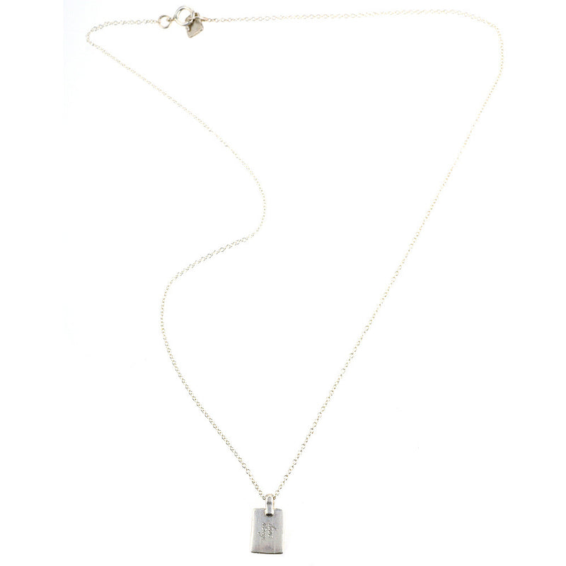 Web Exclusive: Classic Tag Necklace in Silver