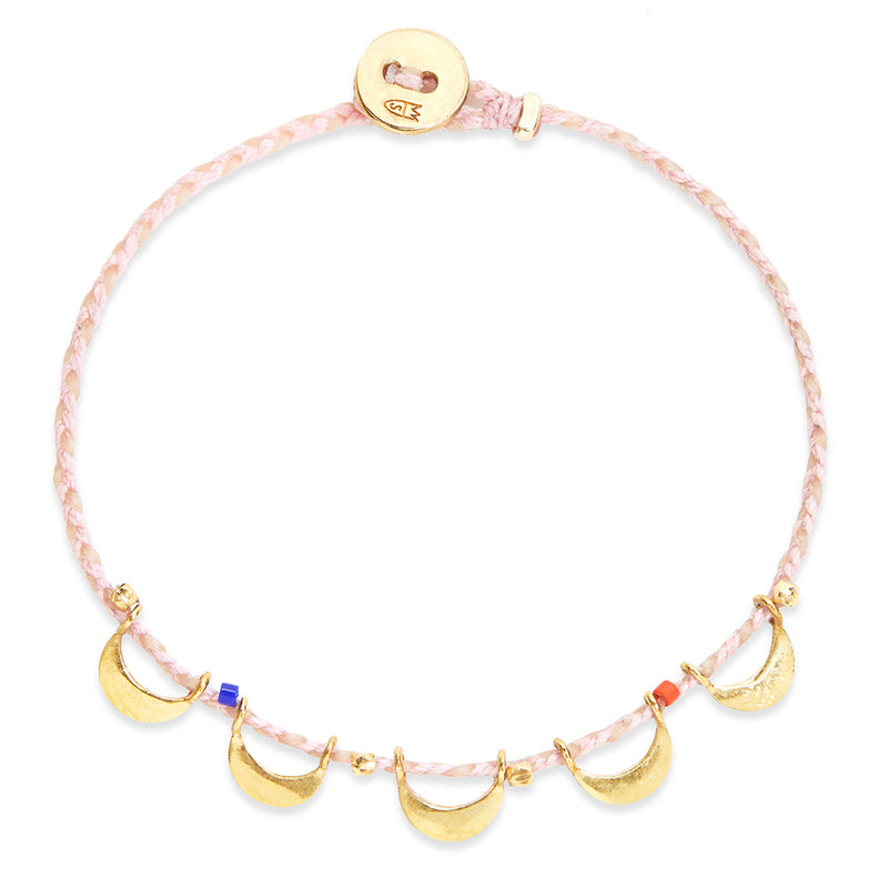 Luna Caravan Bracelet in Light Pink and Natural