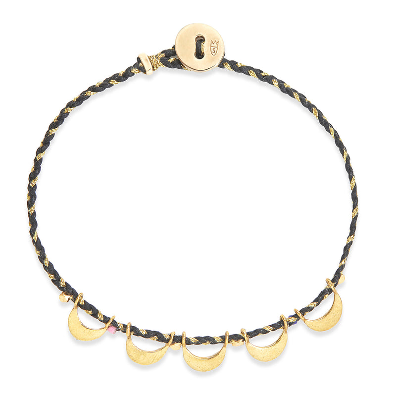 Luna Caravan Bracelet in Black and Gold